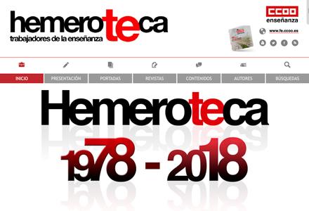 Página web 'hemeroTEca' realizado para la FECCOO.