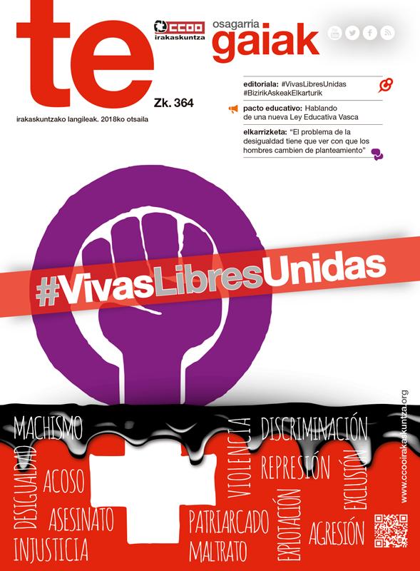 Portada de la Revista Gaiak de la Federación de Enseñanza de Euskadi.